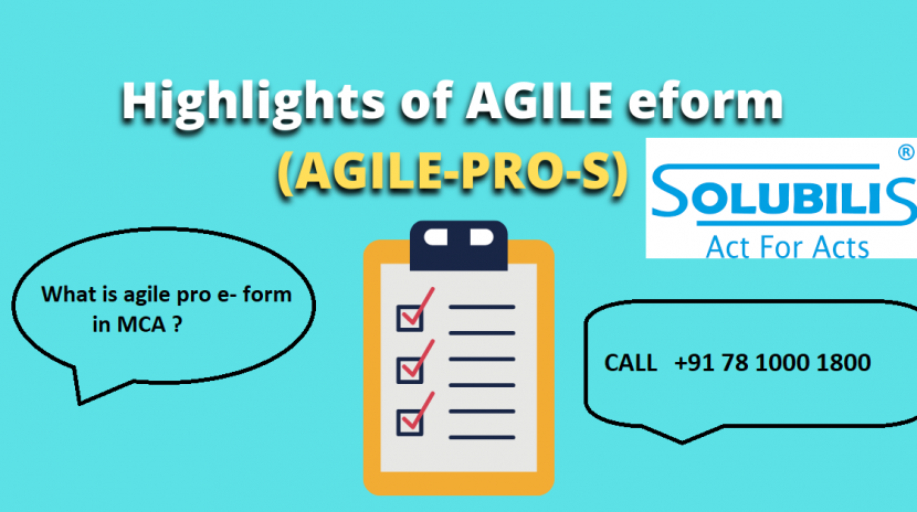 This blog answers to the most common query What is agile pro e- form in MCA? AGILE E- Form Highlights is also enclosed in this blog.